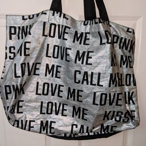 Love Me Kiss Me Victoria's Secret Oversized Tote
